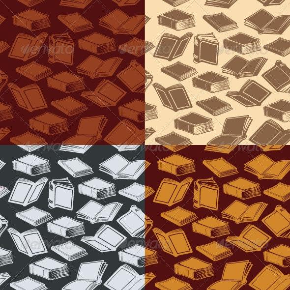 Seamless Patterns with Books - Patterns Decorative
