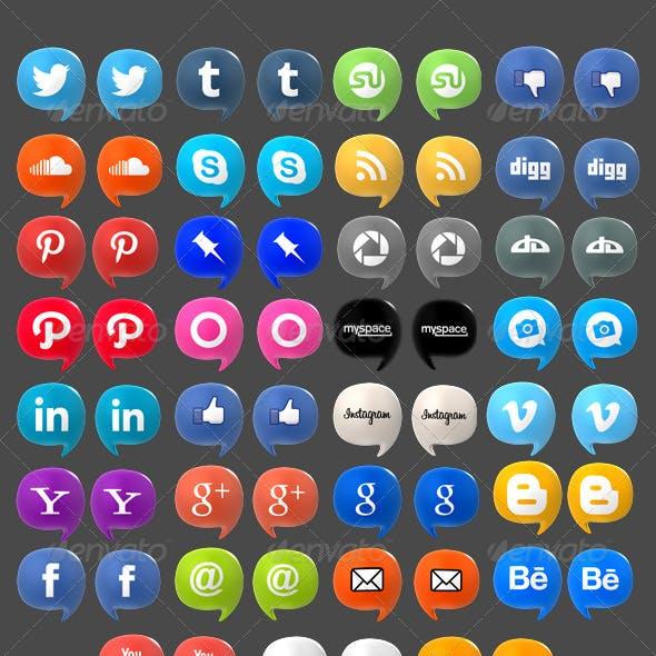 Social Media Baloons Set (Pack of 35)