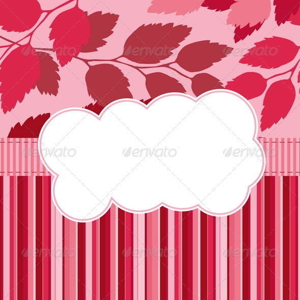Seasonal Card with Scrapbook Elements  - Backgrounds Decorative
