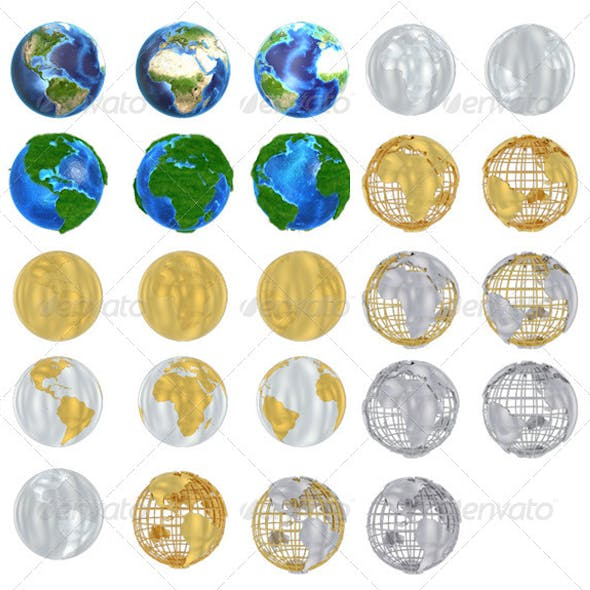 Earth Globe Pack 1