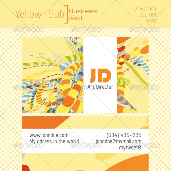 Yellow Sub, Business card