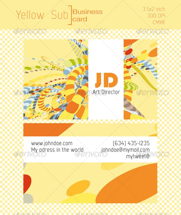 Yellow Sub, Business card  - Creative Business Cards