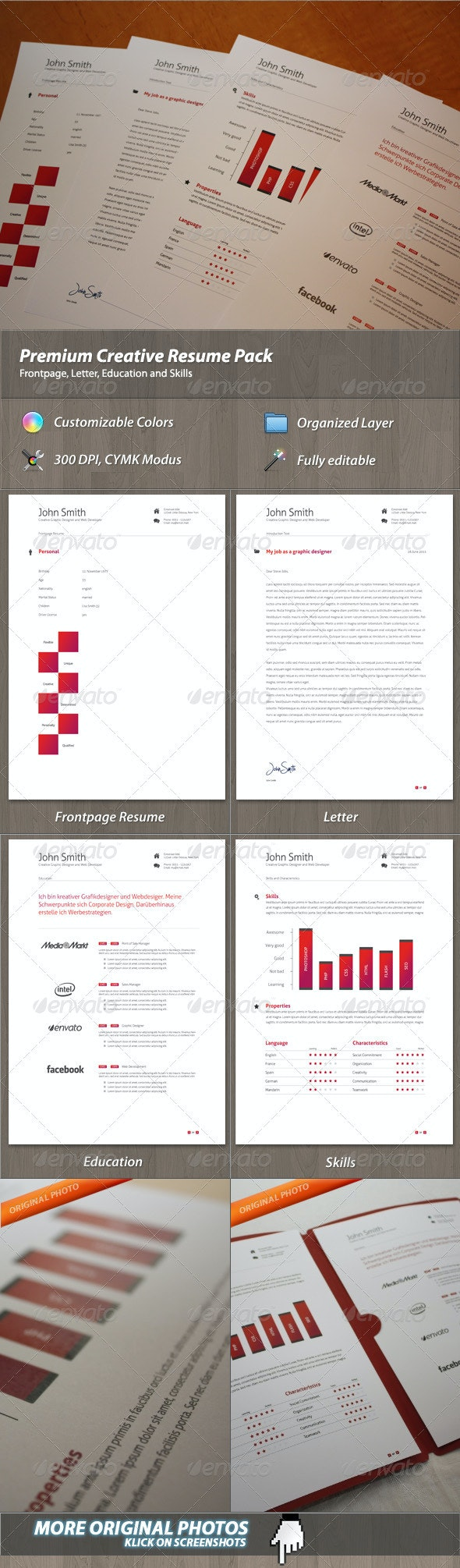 Premium Creative Resume Pack - Resumes Stationery