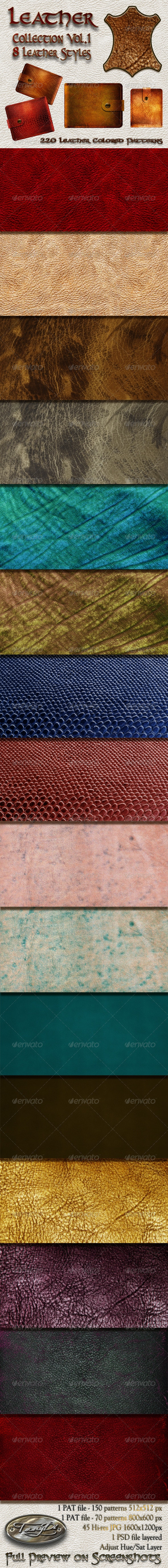 Leather Collection Vol.1 - Patterns Backgrounds