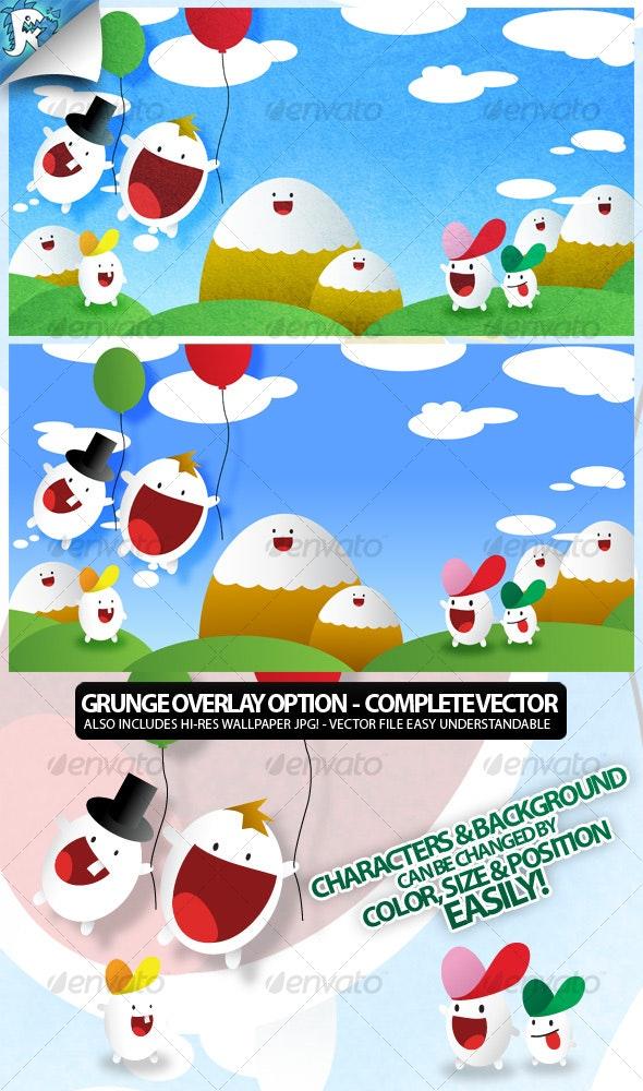 Cartoon Set - Characters Vectors
