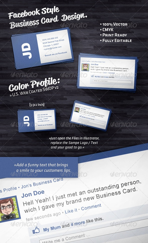 Social Style Business Card - Industry Specific Business Cards