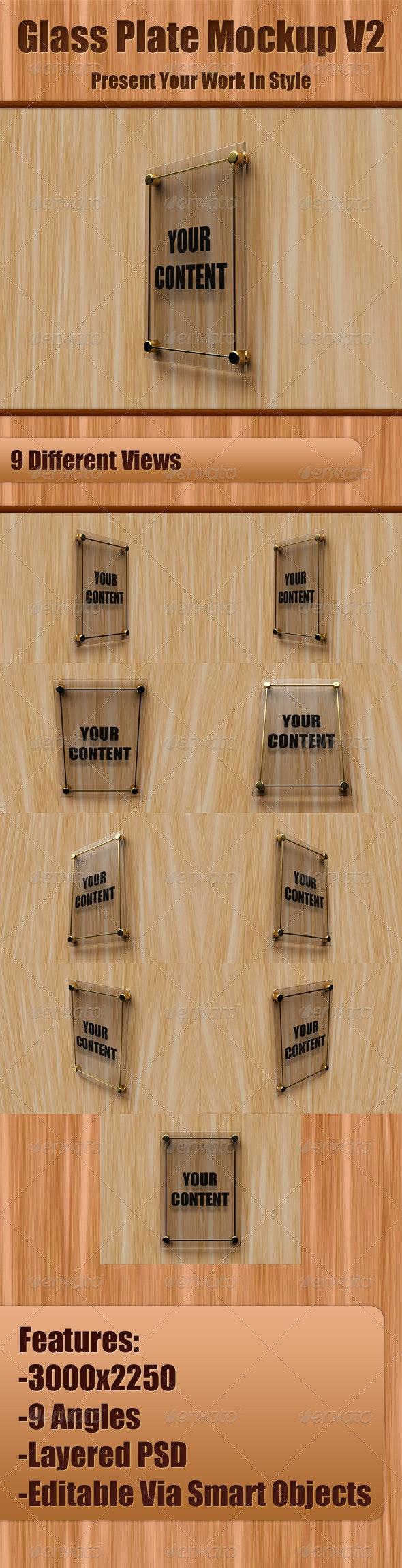 Glass Plate Mockup V2 - Signage Print