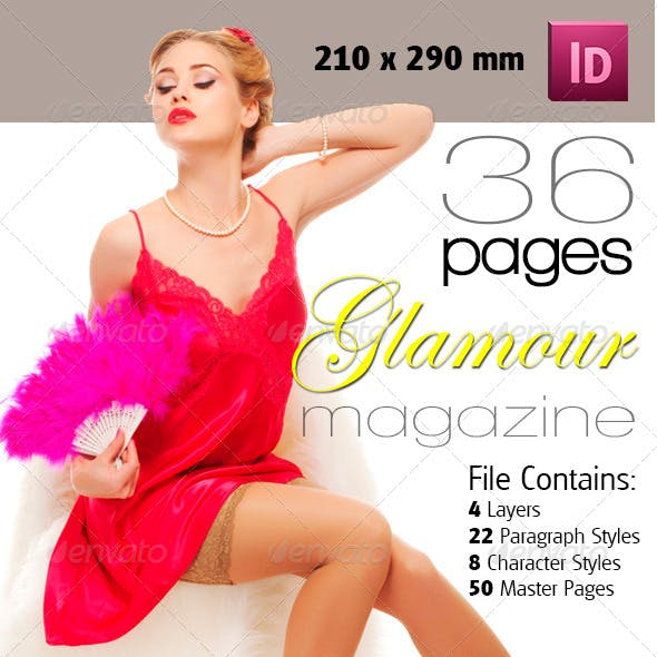 36 Pages Glamour Magazine Version One