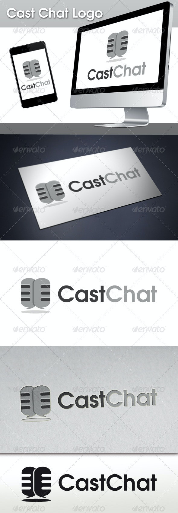 Cast Chat Logo - Objects Logo Templates