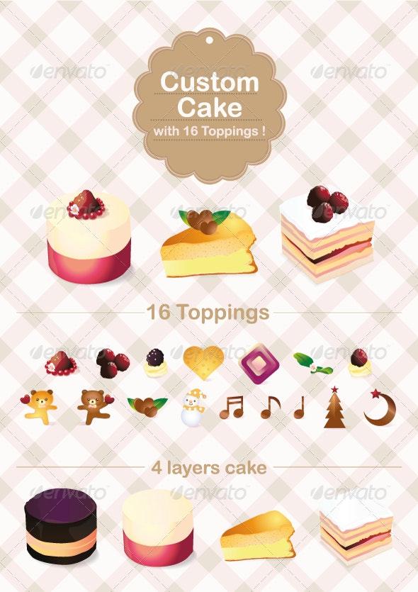Custom Cake with 16 Topping - Seasons/Holidays Conceptual