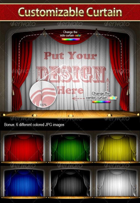 Customizable Curtain - Backgrounds Decorative