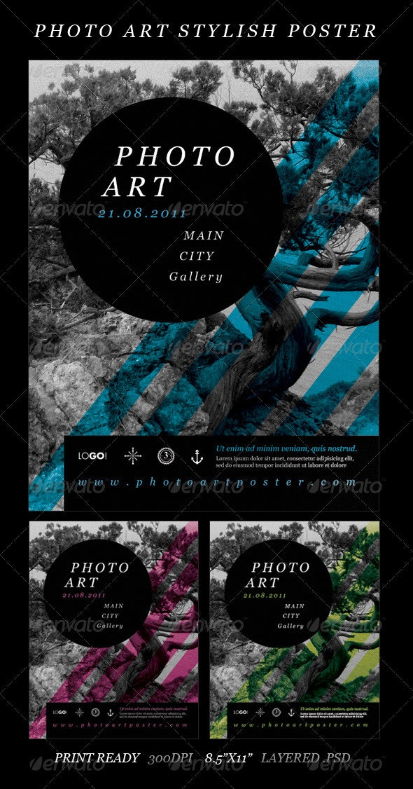 Photo Art Stylish Poster - Miscellaneous Print Templates