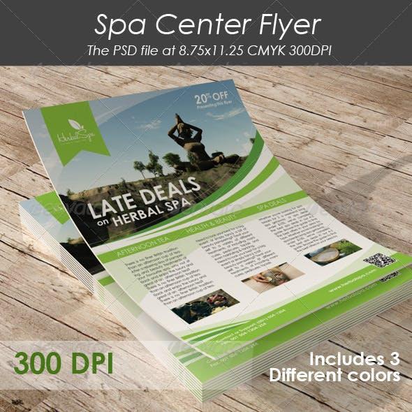 Spa Center Flyer