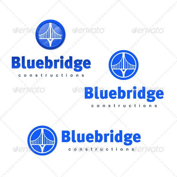 Blue Bridge Construction - Buildings Logo Templates