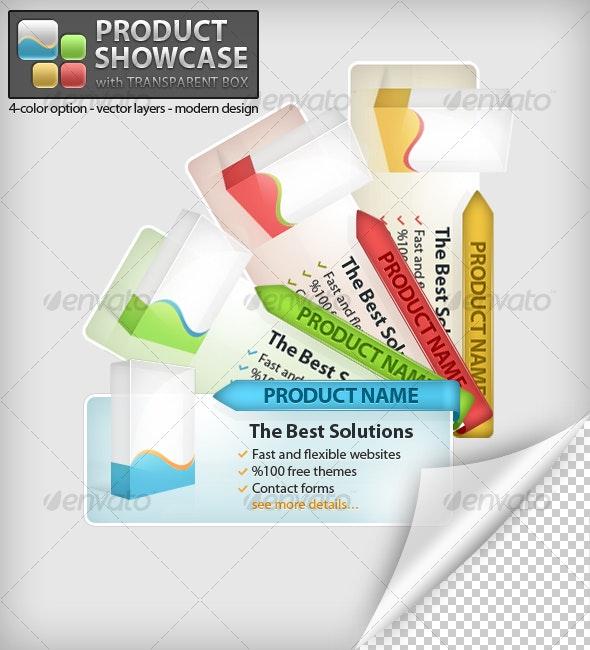 Product Showcase with Transparent Box - Web Elements