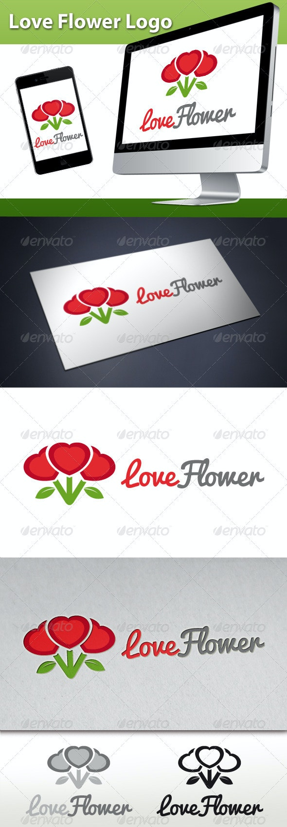 Love Flower Logo - Nature Logo Templates