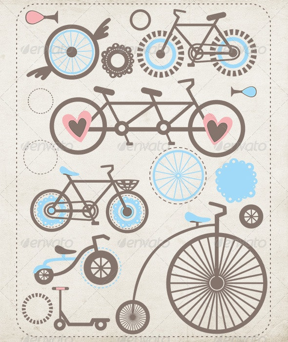 Bicycles - Sports/Activity Conceptual
