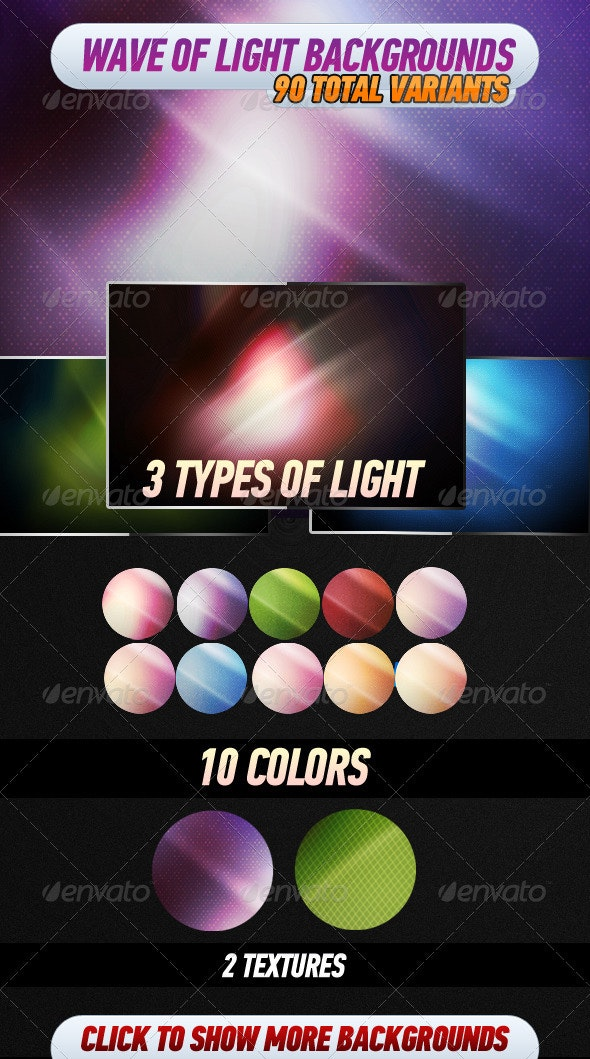 Wave of Light Backgrounds - Backgrounds Graphics