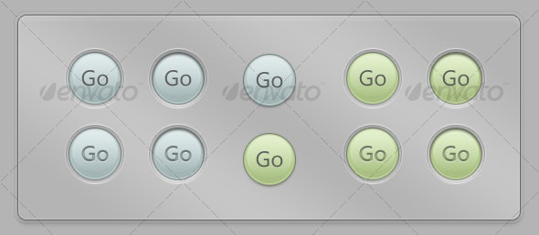 Realism Button - normal/pressed - Buttons Web Elements