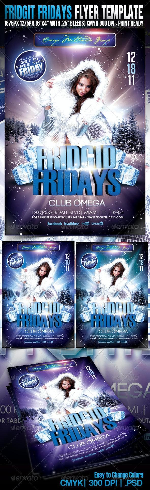 Fridget Fridays - Events Flyers