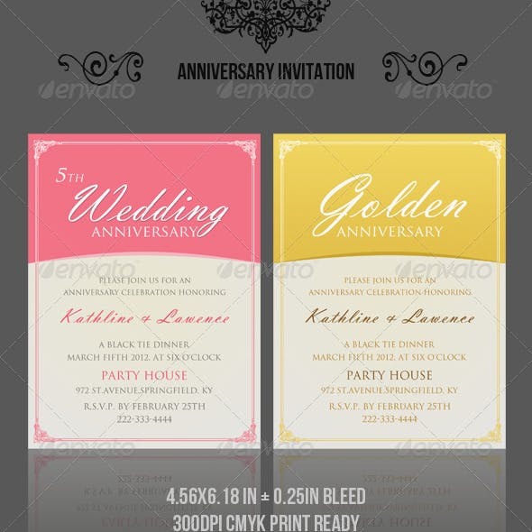 Anniversary Invitation Template_vol.03