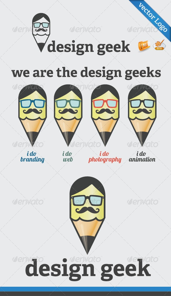 Design Geek Logo Template  - Symbols Logo Templates