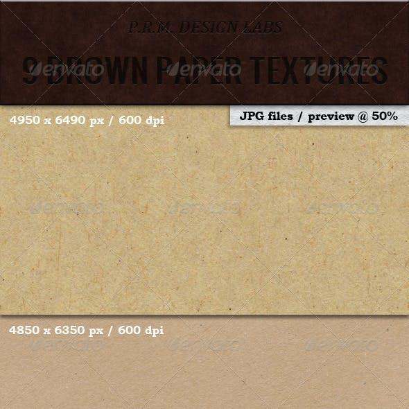 9 Hi-Res Brown Paper Textures