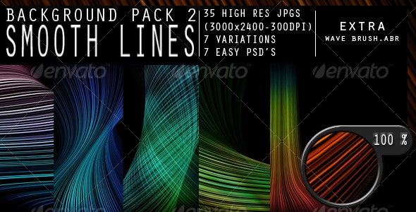 Smooth Lines Background Pack - Backgrounds Graphics
