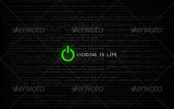 Coding Is Life HD  - Tech / Futuristic Backgrounds