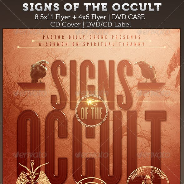 Signs of the Occult: Church Flyer and DVD Template