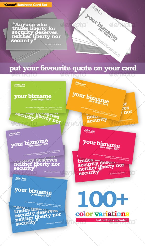 Quote Business Card - Creative Business Cards