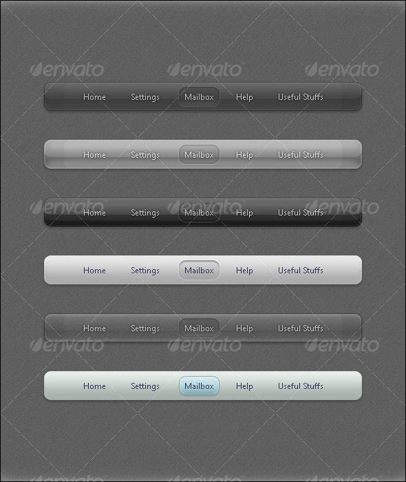 Sleek Navbars (6 included) - Forms Web Elements