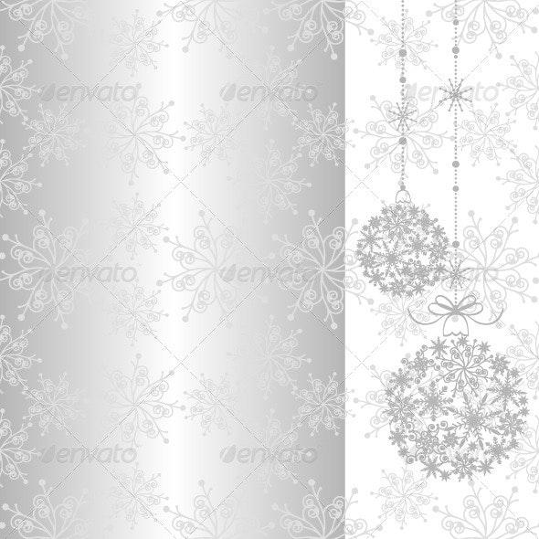 Silver Christmas Background - Christmas Seasons/Holidays