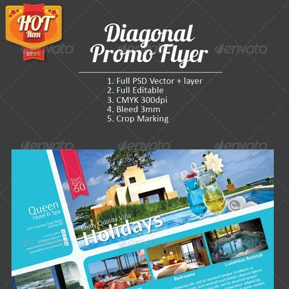 Diagonal Promo Flyer