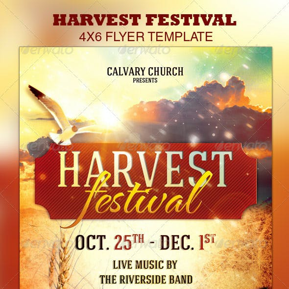 Harvest Festival Church Flyer Template