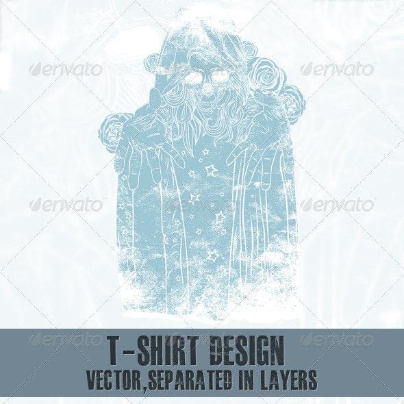T-shirt design - Characters Vectors