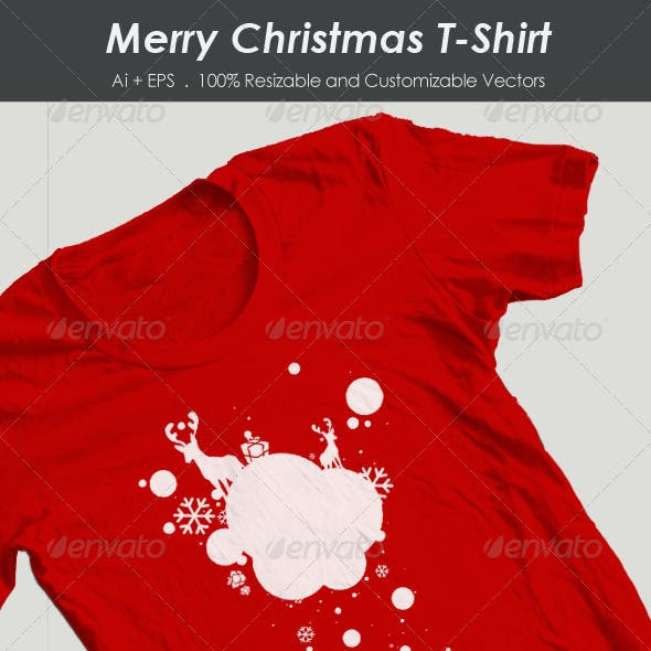 Snow Village Christmas T-Shirt