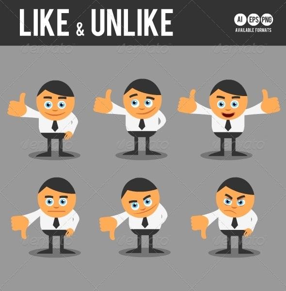 Like & Unlike - Characters Vectors