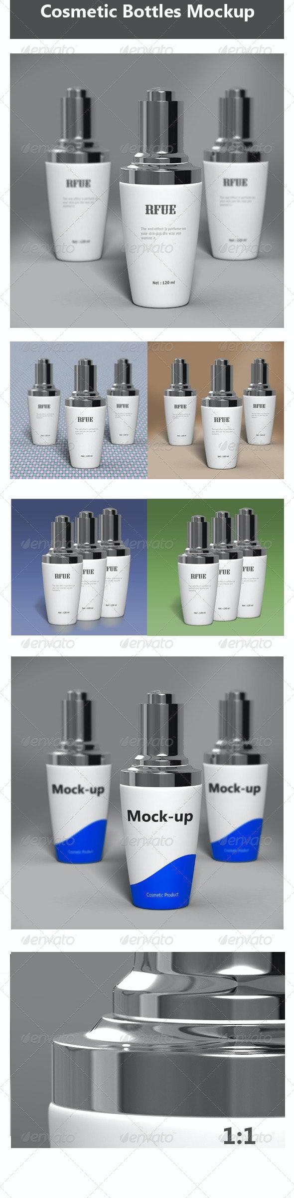 Cosmetic Bottles Mock-up - Beauty Packaging