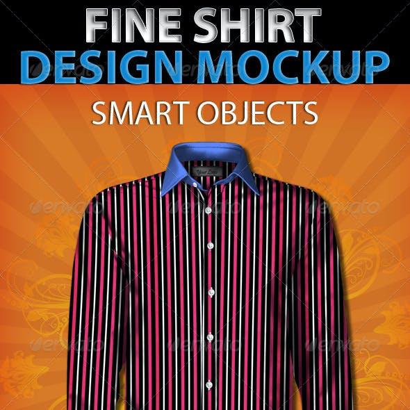 Fine Shirt Design Mockup