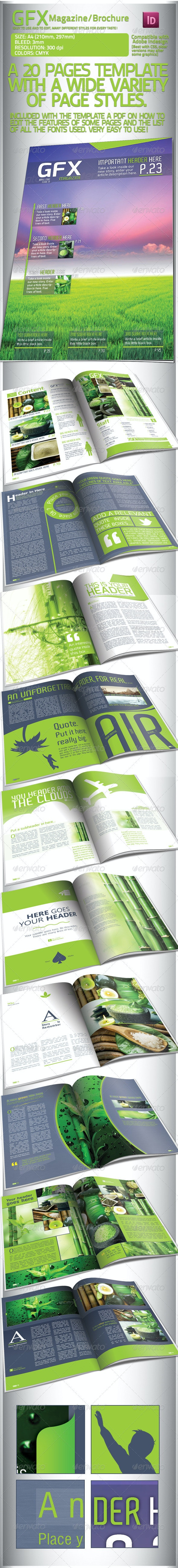 Clean Green Magazine/Brochure, 20 Pages - Magazines Print Templates