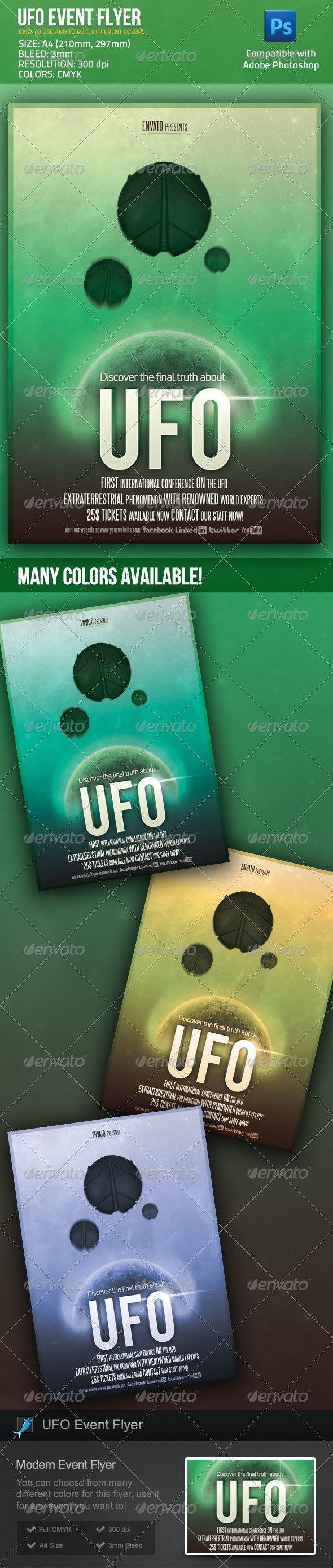 UFO Event / Sci Fi Movie Poster Flyer - Miscellaneous Events