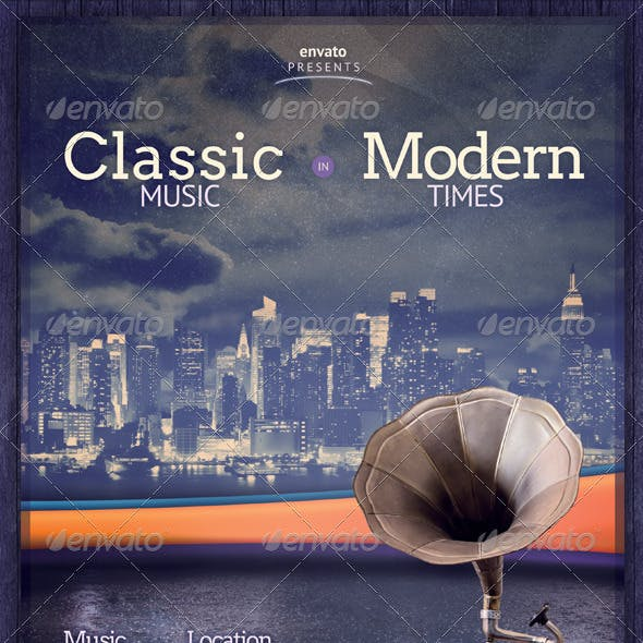Classic Music and Modern Times Flyer