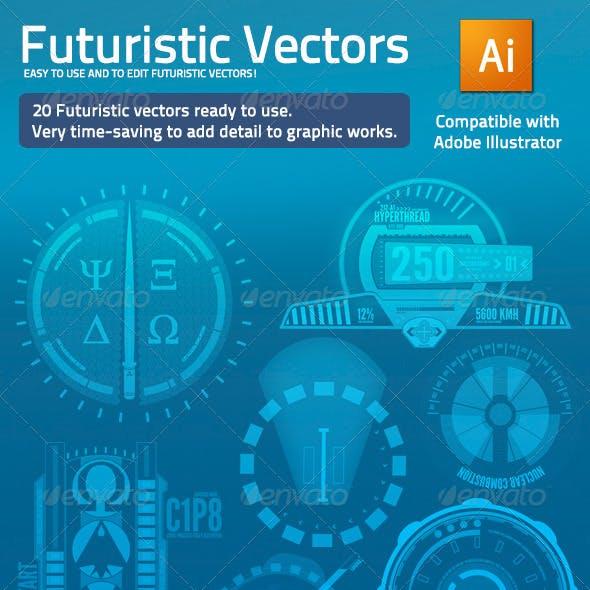 Futuristic Vectors - 20 Elements