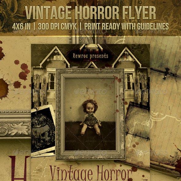 Vintage Horror Flyer