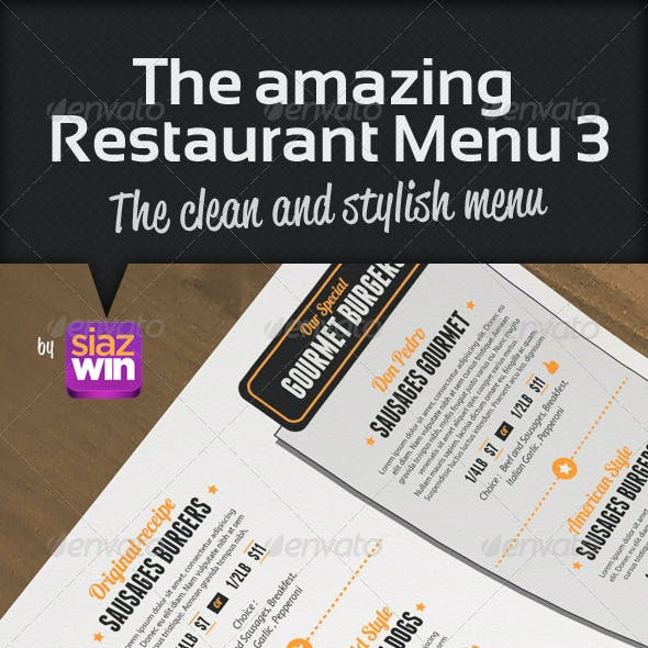 The Restaurant Menu 3