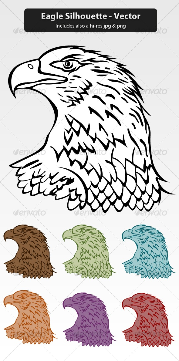 Eagle Silhouette - Animals Characters