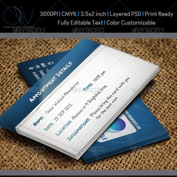 Appointment Business Card Vol.2