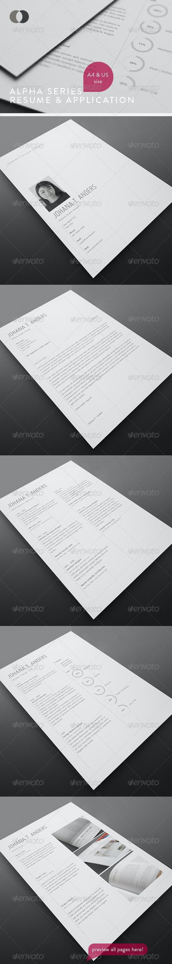 Resume Set - Vol.2 - Resumes Stationery
