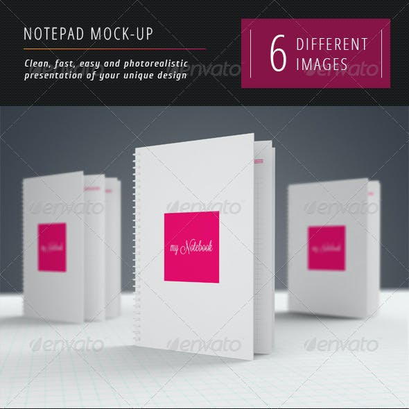 Notebook Mock-Up's Set